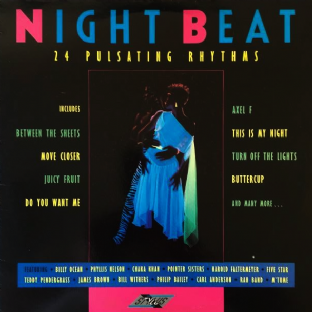V/A - Night Beat: 24 Pulsating Rhythms (LP) (EX/VG-)
